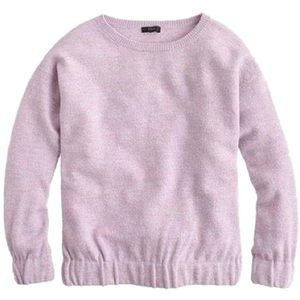 J. Crew Boiled Merino Wool Sweatshirt Purple X775